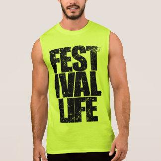 FESTIVAL LIFE (blk) Sleeveless Shirt
