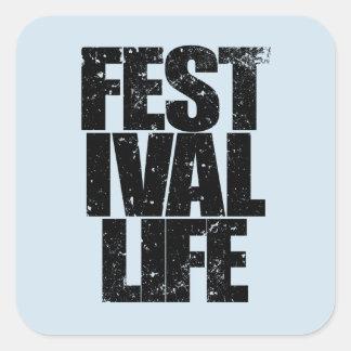 FESTIVAL LIFE (blk) Square Sticker