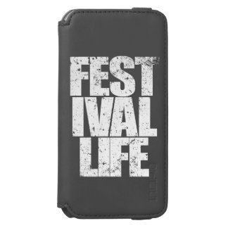 FESTIVAL LIFE (wht) iPhone 6/6s Wallet Case