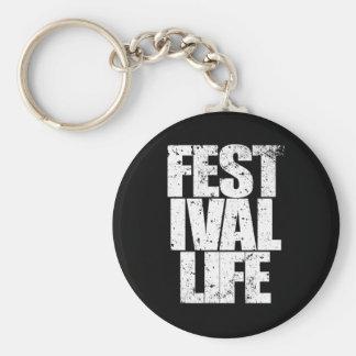 FESTIVAL LIFE (wht) Keychain