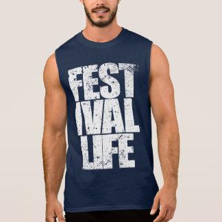 FESTIVAL LIFE (wht) Sleeveless Shirt