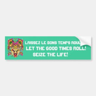 Festival Mardi Gras 50 colors Please See Notes Bumper Sticker