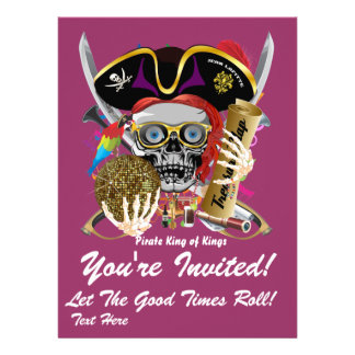 Festival Mardi Gras  Event  Please View Notes Custom Invitation