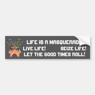 Festival Masquerade Comedy Drama View Hints Plse Bumper Sticker