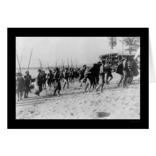 Festival nativo en Honolulu 1913 Tarjeta De Felicitación
