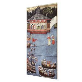Festival náutico antes del sultán Ahmed III Impresion De Lienzo