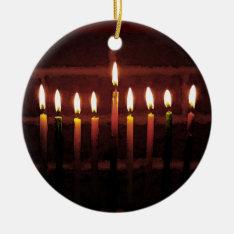 Festival Of Light Hanukkah Menorah Ceramic Ornament at Zazzle