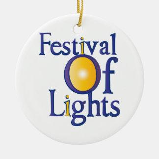 Festival Of Lights Ceramic Ornament