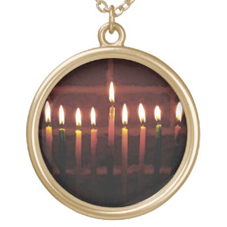 Festival of Lights Round Pendant Necklace