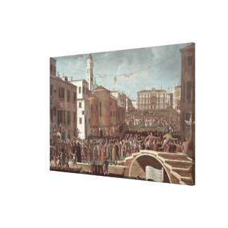 Festival of the Blessed Virgin Mary on Santa Canvas Print