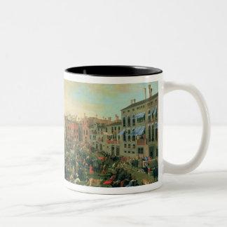 Festival of the Bulls, Campo San Polo Two-Tone Coffee Mug