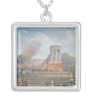 Festival of the Federation, 14th July 1790 Silver Plated Necklace