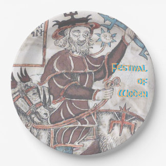 Festival of Woden Paper Party Plate