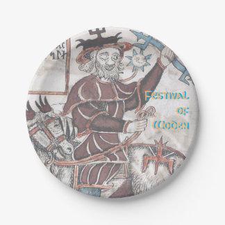 Festival of Woden Paper Plate: Odin on Sleipnir Paper Plate