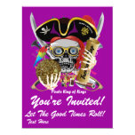"""Festival Party Theme  Please View Notes 6.5"""" X 8.75"""" Invitation Card"""