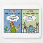 Festival Pentozali Funny FolkDancing Cartoon Mouse Pads