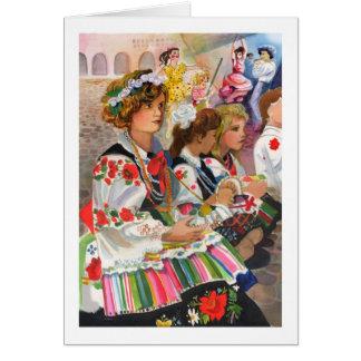 Festival polaco tarjeta de felicitación