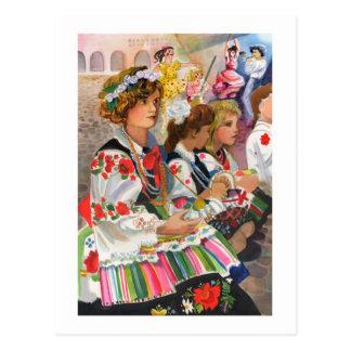 Festival polaco tarjeta postal