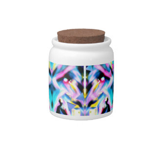 Festival Psychedelic Art Rave Candy Jars