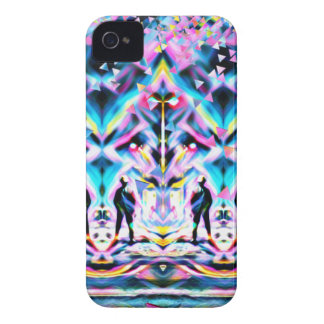 Festival Psychedelic Art Rave iPhone 4 Case