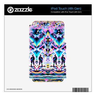 Festival Psychedelic Art Rave Skin For iPod Touch 4G