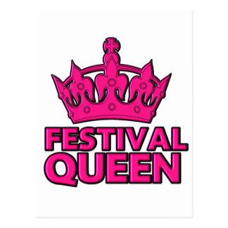 festival queen / festivals postcard