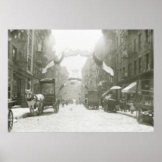 Festival religioso de la calle de Mott, 1908 Poster