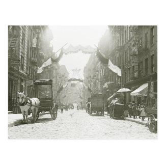 Festival religioso de la calle de Mott 1908 Postal