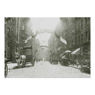 Festival religioso de la calle de Mott, 1908 Póster