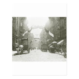 Festival religioso de la calle de Mott 1908 Tarjetas Postales