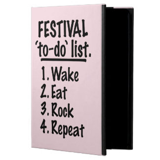 Festival 'to-do' list (blk) case for iPad air