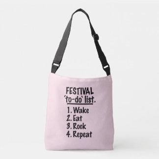 Festival 'to-do' list (blk) crossbody bag