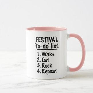 Festival 'to-do' list (blk) mug