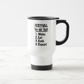 Festival 'to-do' list (blk) travel mug