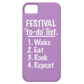Festival 'to-do' list (wht) iPhone SE/5/5s case