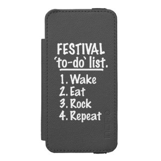 Festival 'to-do' list (wht) iPhone SE/5/5s wallet case