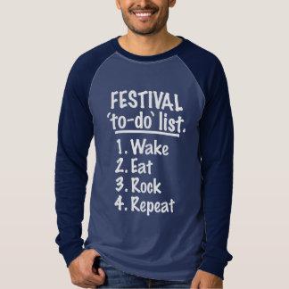 Festival 'to-do' list (wht) T-Shirt