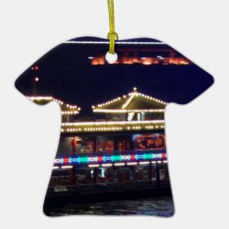 FESTIVALES: BARCO ligero de la chispa del chino Ornaments Para Arbol De Navidad