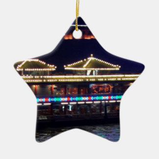 FESTIVALES: BARCO ligero de la chispa del chino Adorno De Cerámica En Forma De Estrella