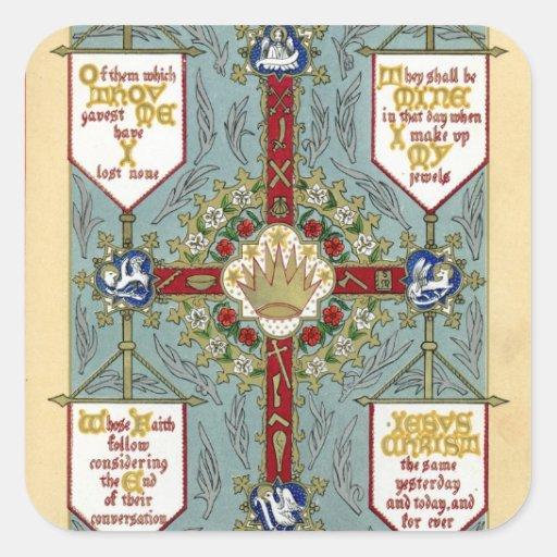 Festivales de los apóstoles, evangelistas, todos calcomanias cuadradas