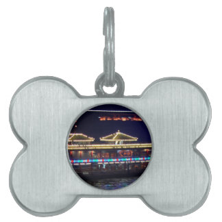 FESTIVALS : Chinese Sparkle Light BOAT Pet Name Tag