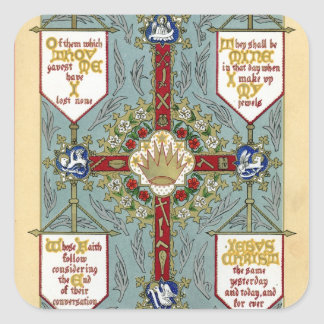 Festivals of the Apostles, evangelists, All Angels Square Sticker