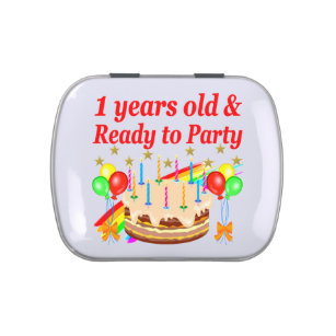 FESTIVE 1ST BIRTHDAY PARTY DESIGN JELLY BELLY CANDY TIN