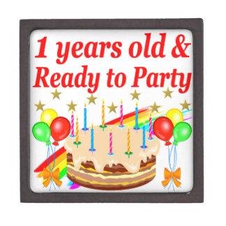 FESTIVE 1ST BIRTHDAY PARTY DESIGN KEEPSAKE BOX