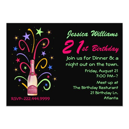 Festive 21st Birthday Invitation