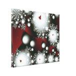 Festive 2 Winter Snowflakes Fine Fractal Art Canvas Print