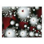Festive 2 Winter Snowflakes Fine Fractal Art Card