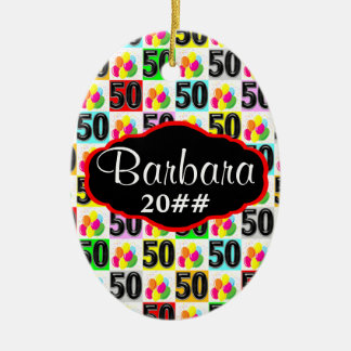 FESTIVE 50TH PERSONALIZED AND DATED ORNAMENT