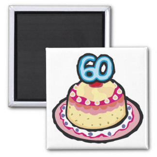 Festive 60th Birthday Gifts 2 Inch Square Magnet