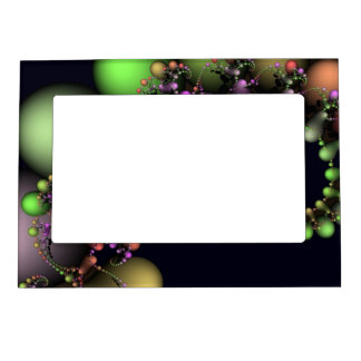 Festive Abstract Bubbles Magnetic Picture Frame